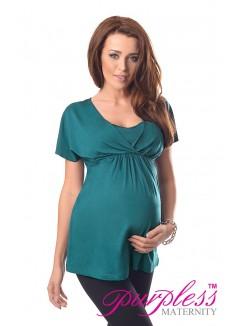 2in1 Maternity & Nursing Top 7042 Dark Turquoise
