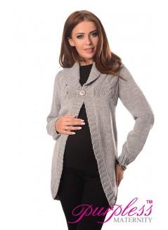 Maternity Cardigan 9004 Light Gray