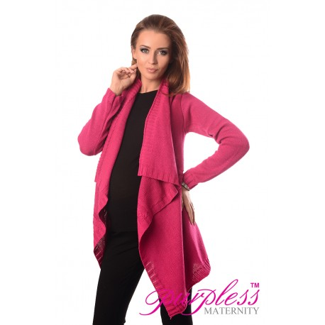 Maternity and Nursing Cardigan 9003 Dark Pink