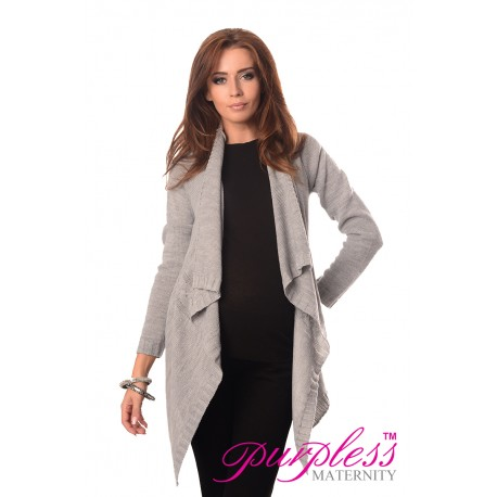 Maternity and Nursing Cardigan 9003 Light Gray
