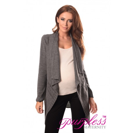 Maternity and Nursing Cardigan 9003 Dark Gray