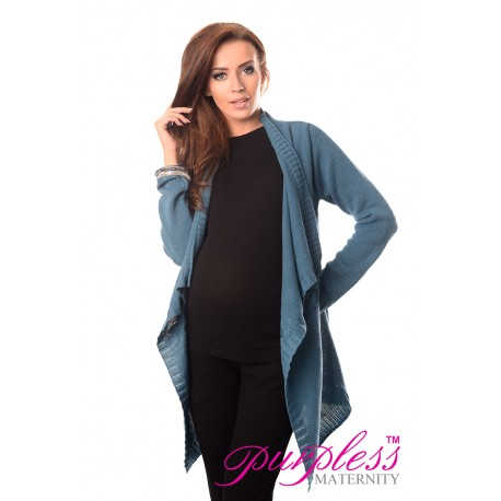 Maternity and Nursing Cardigan 9003 Teal