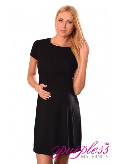 Maternity and Nursing Dress 7200 Black