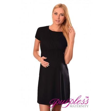Maternity and Nursing Dress 7200 Black