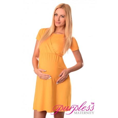 Maternity and Nursing Dress 7200 Dark Yellow