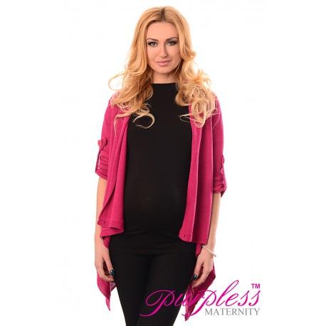 Pregnancy and Nursing Cardigan 9005 Dark Pink