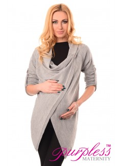 Pregnancy and Nursing Cardigan 9005 Light Gray