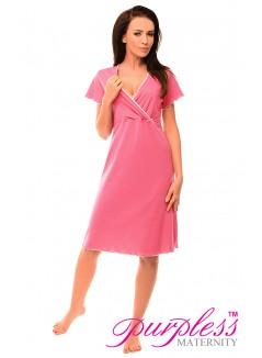 Pregnancy and Nursing Nightdress 1055n Bright Pink