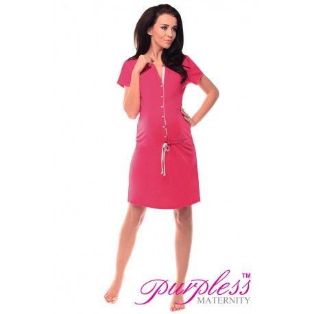 Pregnancy and Nursing Nightdress 5041n Dark Pink