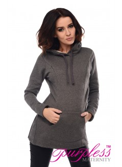 2in1 Nursing Hoodie 9050 Dark Gray