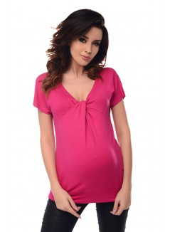 Twist Knot Front Top 6065 Hot Pink