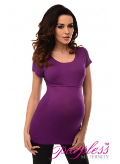 Nursing Short Sleeved Top 7020 Violet