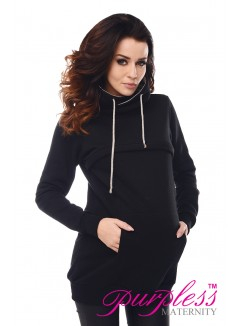 2in1 Cowl Neck Sweatshirt 9054 Black