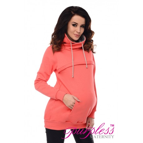 2in1 Cowl Neck Sweatshirt 9054 Coral