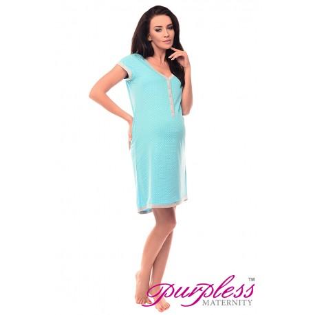 Pregnancy and Nursing Nightdress 5038n Blue