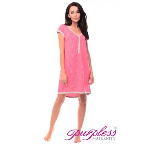Pregnancy and Nursing Nightdress 5038n Hot Pink