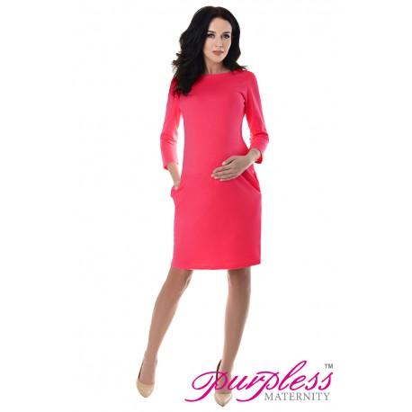 Dress with Pockets 6107 Raspberry