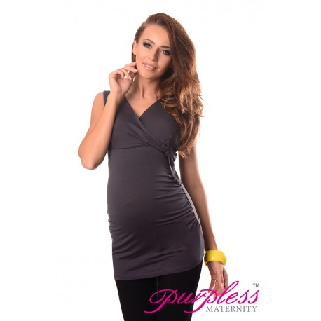 V Neck Top 5104 Graphite