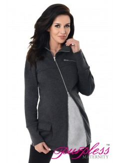Adjustable Maternity Sweatshirt 9055 Black Melange