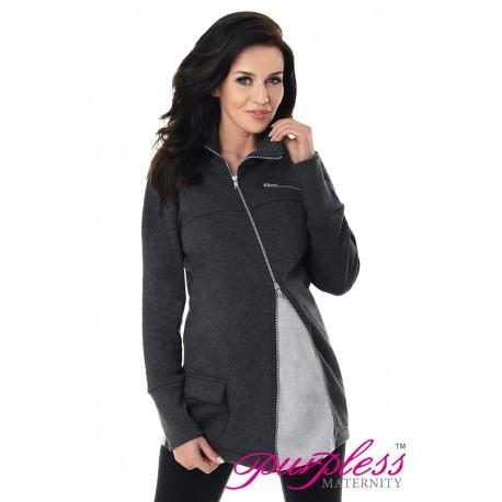 Adjustable Maternity Sweatshirt 9055 Black Melange