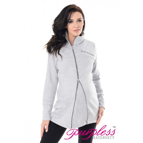 Adjustable Maternity Sweatshirt 9055 Light Gray Melange