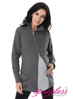 Adjustable Maternity Sweatshirt 9055 Dark Gray Melange