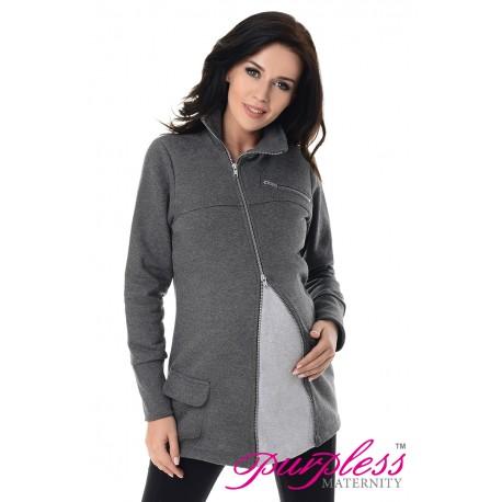 Adjustable Maternity Sweatshirt 9055 Dark Gray Melange