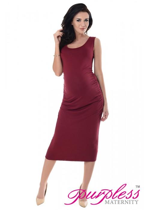 Sleeveless Jersey Midi Dress 8130