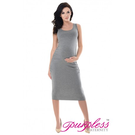 Sleeveless Jersey Midi Dress 8130