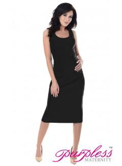 Sleeveless Jersey Midi Dress 8130 Black