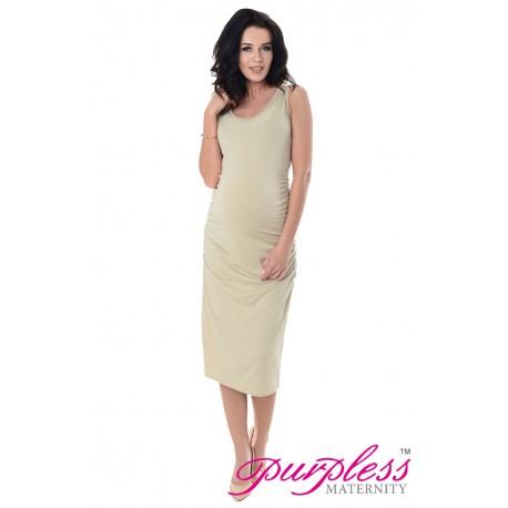 Sleeveless Jersey Midi Dress 8130 Beige