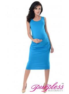 Sleeveless Jersey Midi Dress 8130 Sky Blue
