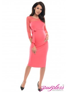 Ruched Bodycon Dress D008 Raspberry