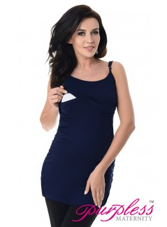 Nursing Cami Vest Top 8021 Navy