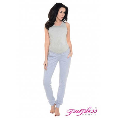 Pregnancy Trousers 1314 Light Gray Melange