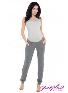 Pregnancy Trousers 1314 Dark Gray Melange