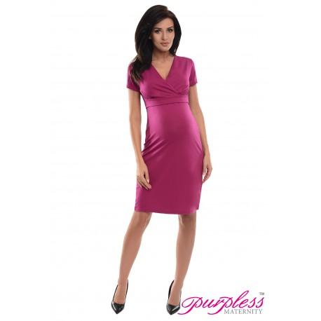 Pregnancy and Nursing Dress 7208 Dark Pink