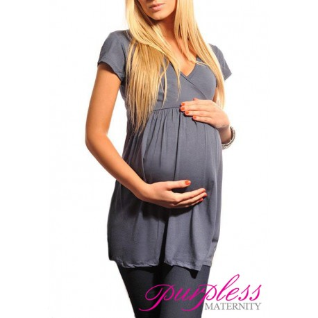 Tunic V-neck 5058 Graphite