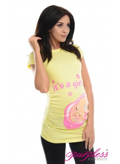 It's a Girl Top 2001 Yellow