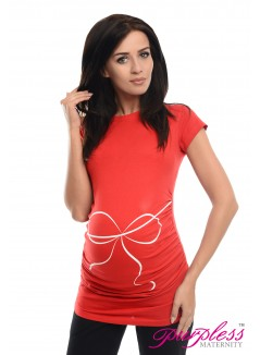 Bow Print Top 2007 Red