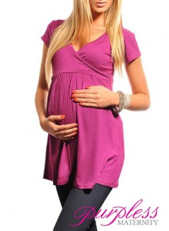 Tunic V-neck 5058 Dark Pink