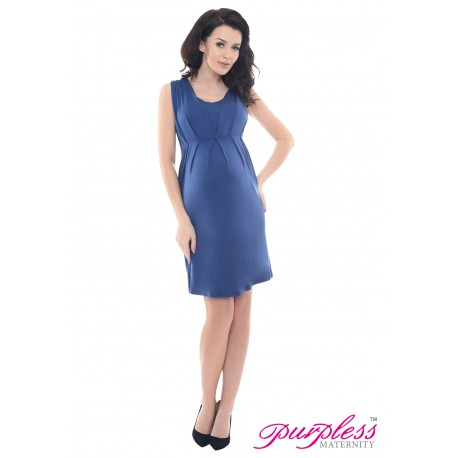 Sleeveless V Neck Maternity Dress 8437 Jeans