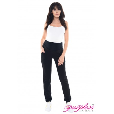 Elasticated Belly Band Trousers 1321 Black