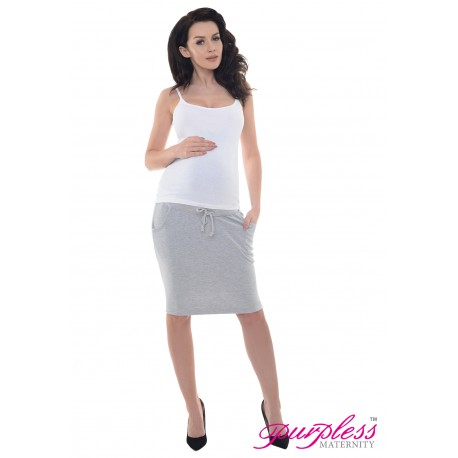 Elasticated Belly Band Skirt 1500 Light Gray Melange