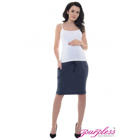 Elasticated Belly Band Skirt 1500 Navy Melange