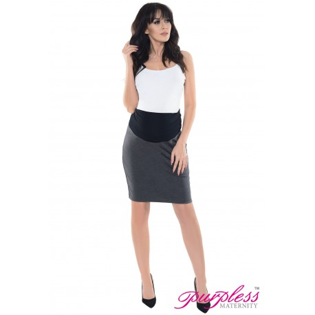 Formal Pencil Skirt 1504 Dark Gray