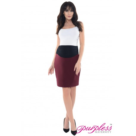 Formal Pencil Skirt 1504 Burgundy