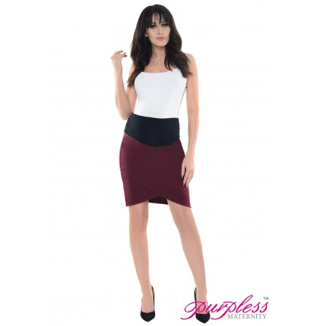 Formal Tulip Skirt 1512 Burgundy