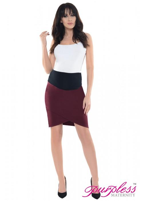 Formal Tulip Skirt 1512 Burgundy