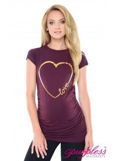 Love Heart Top 2011 Plum